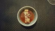 Tofu, burnt strawberry