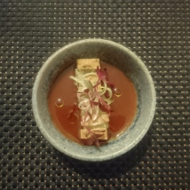 Tofu, burnt strawberry